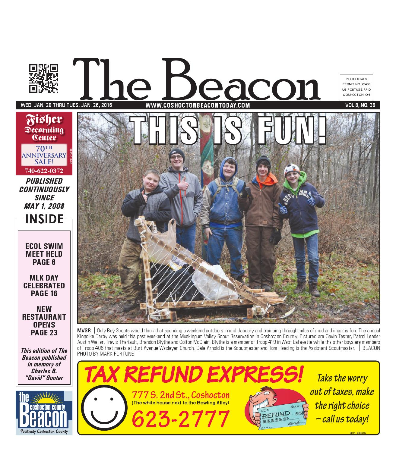 January 20 2016 Coshocton County Beacon By The