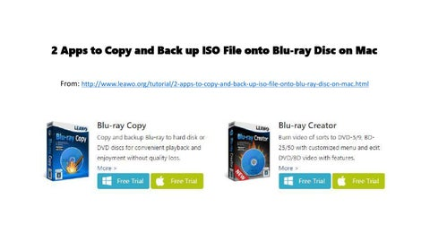 2 apps to copy and back up iso file onto blu ray disc on mac