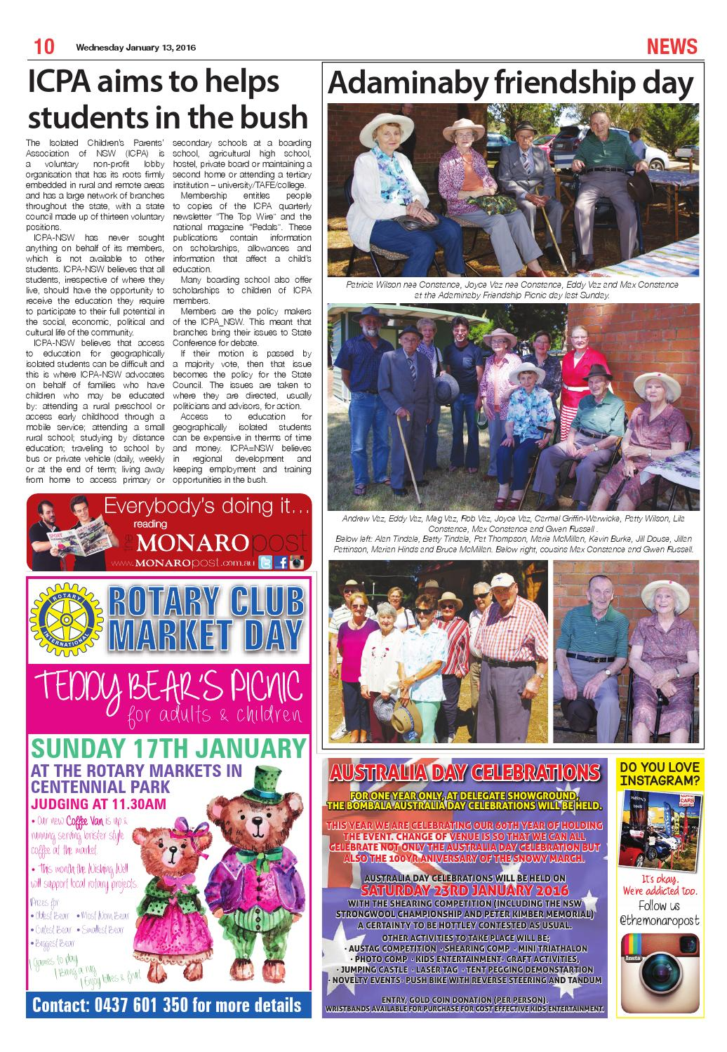 The Monaro Post issue January 13, 2016