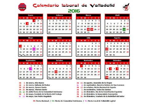 Calendario Laboral Valladolid.Calendario Laboral 2016 Valladolid By Cgt Atos Issuu