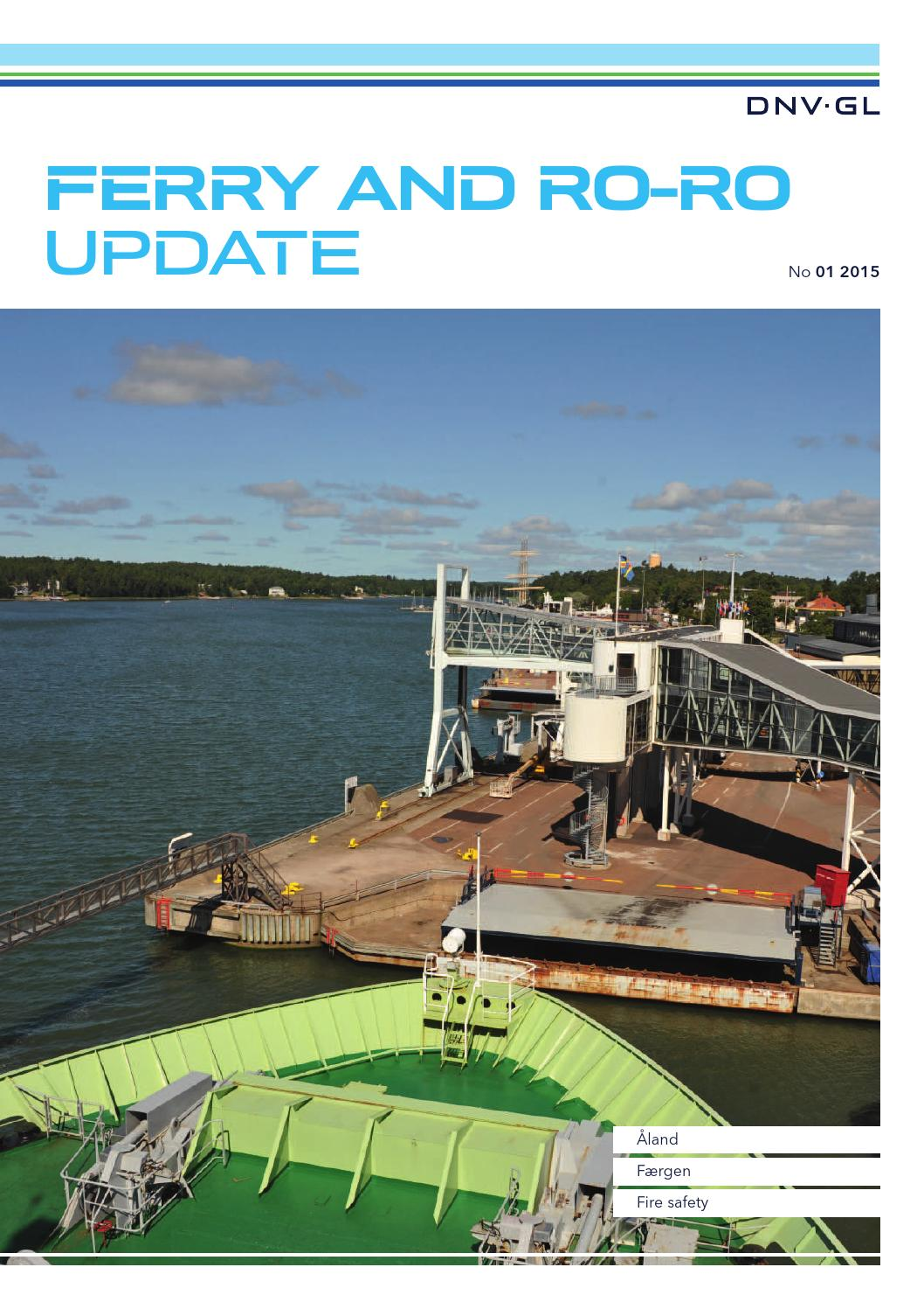 DNV GL Ferry and Ro-Ro Update 01-2015 by DNV GL - issuu