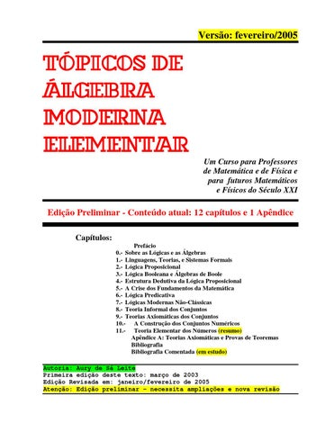 Tpicos de lgebra moderna elementar draft by aury de sa leite issuu page 1 fandeluxe Choice Image