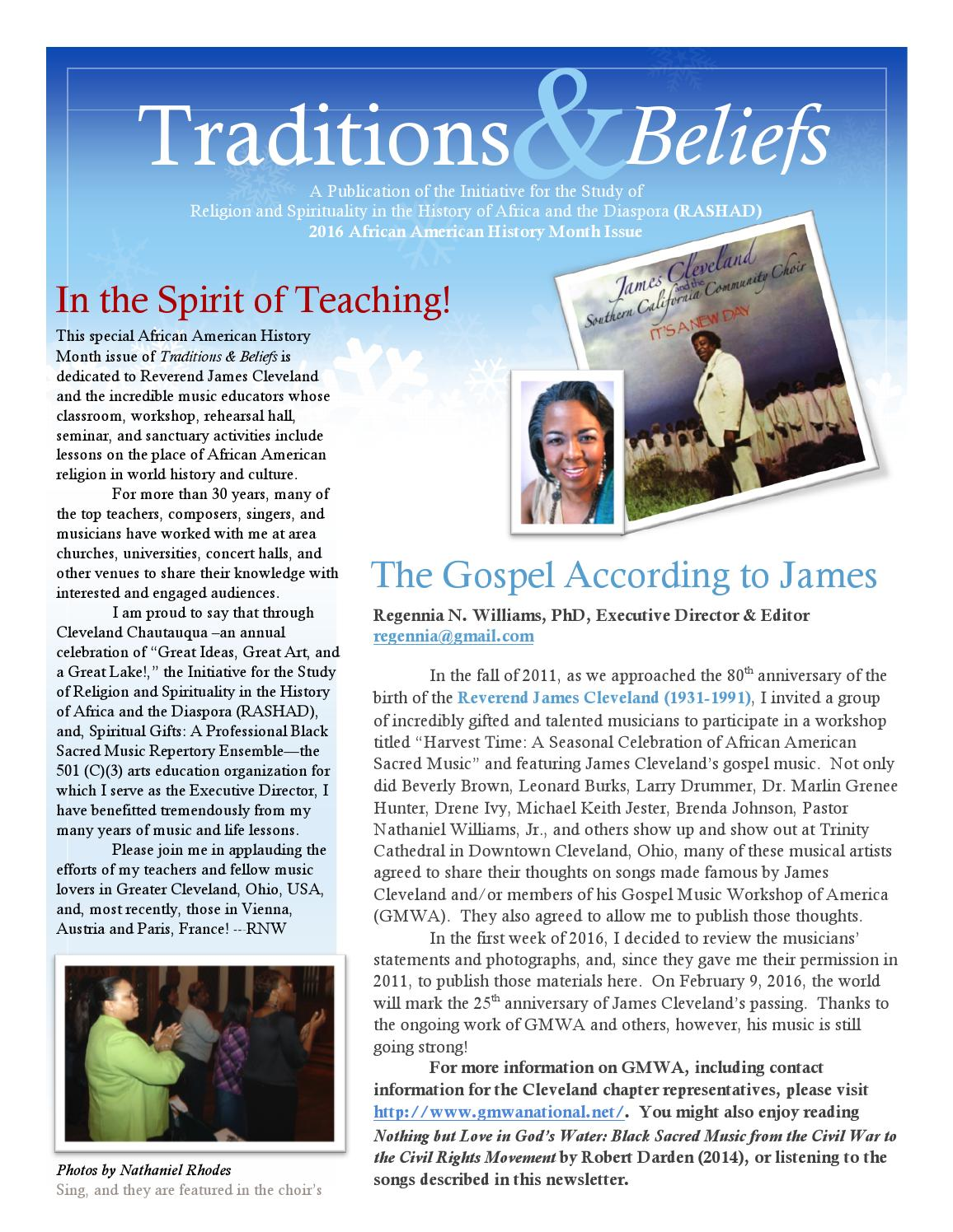 James cleveland gmwa traditions beliefs african american history james cleveland gmwa traditions beliefs african american history month 2016 by regennia n williams issuu ibookread ePUb