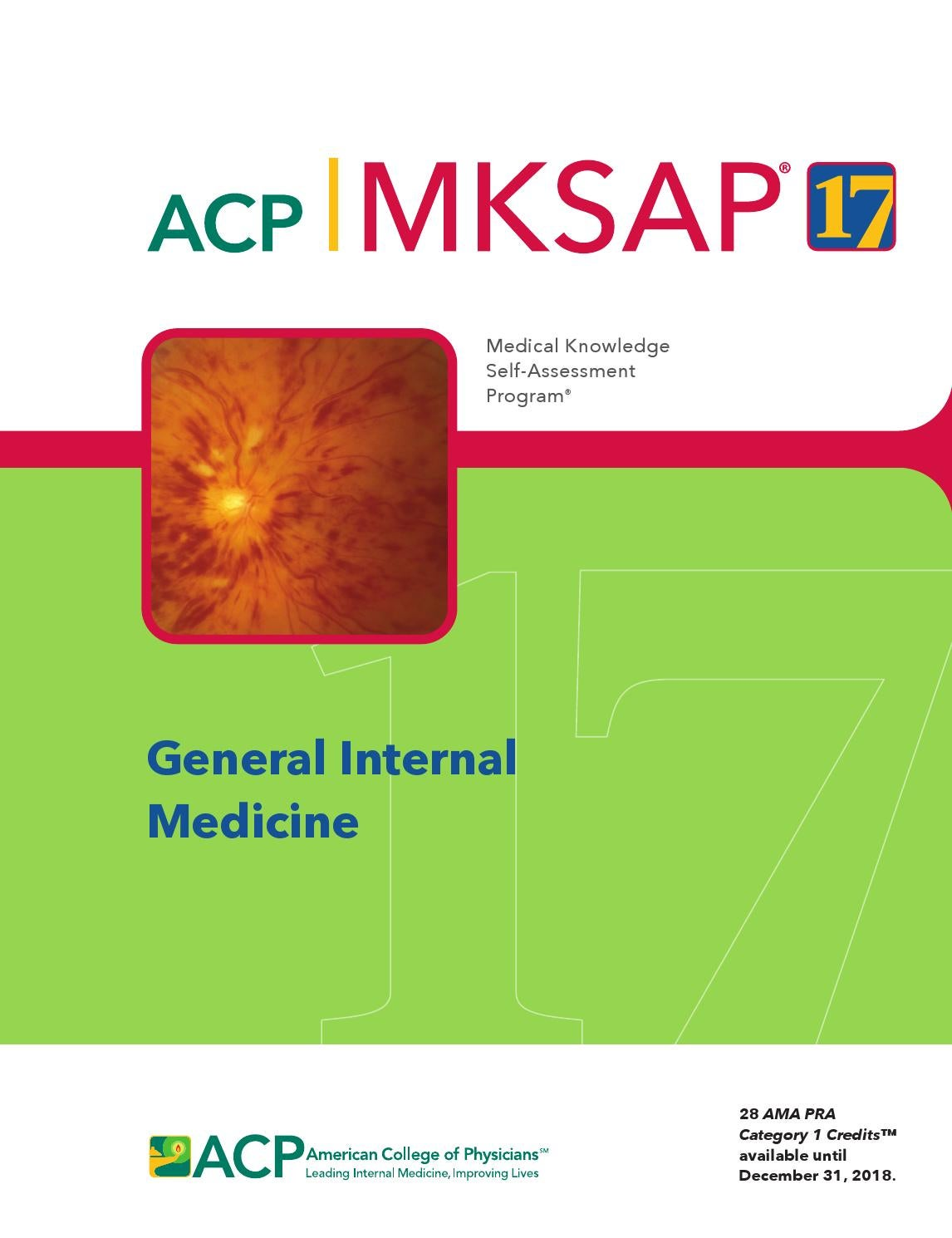 MKSAP 17 - General Internal Medicine by American College of Physicians -  issuu