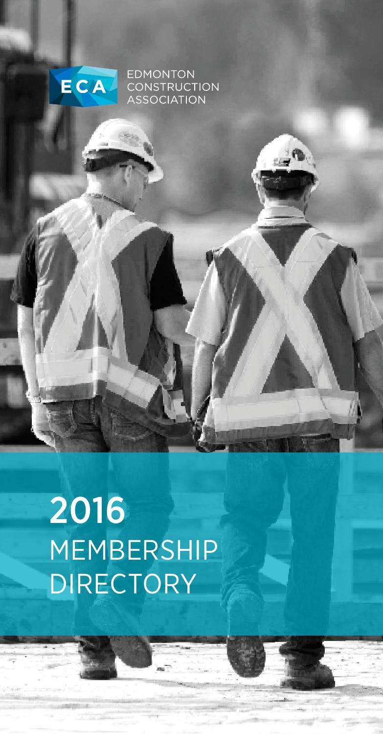 2016 Eca Member Directory By Edmonton Construction