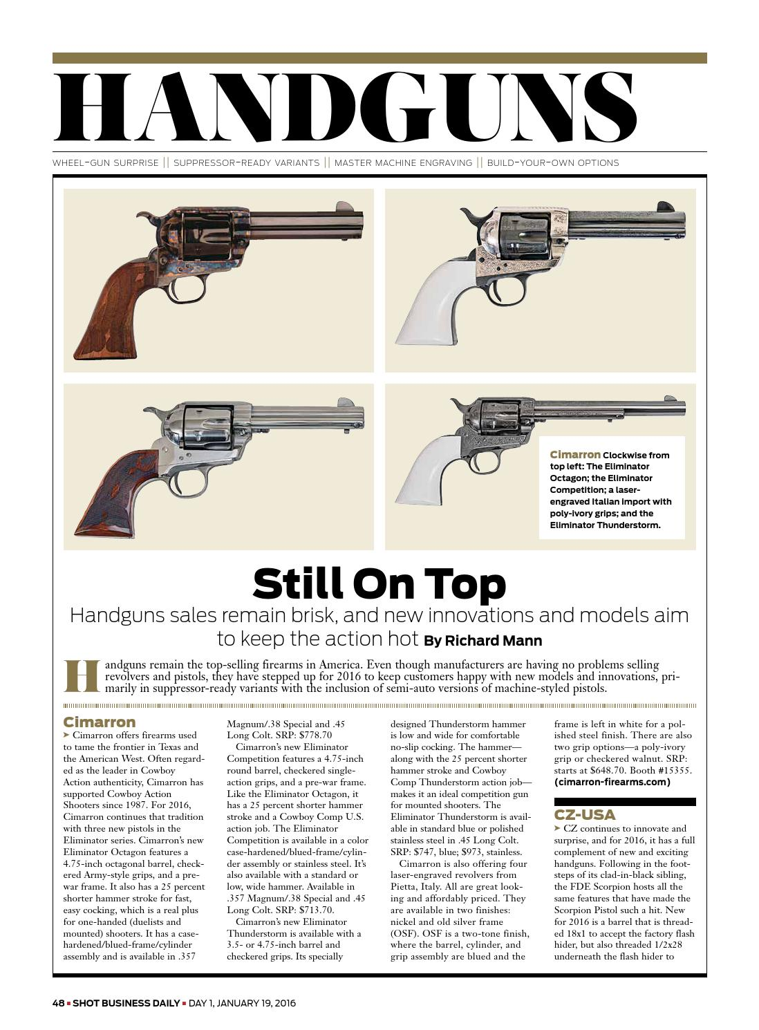 SHOT Daily Day 1 2016 by National Shooting Sports Foundation - issuu