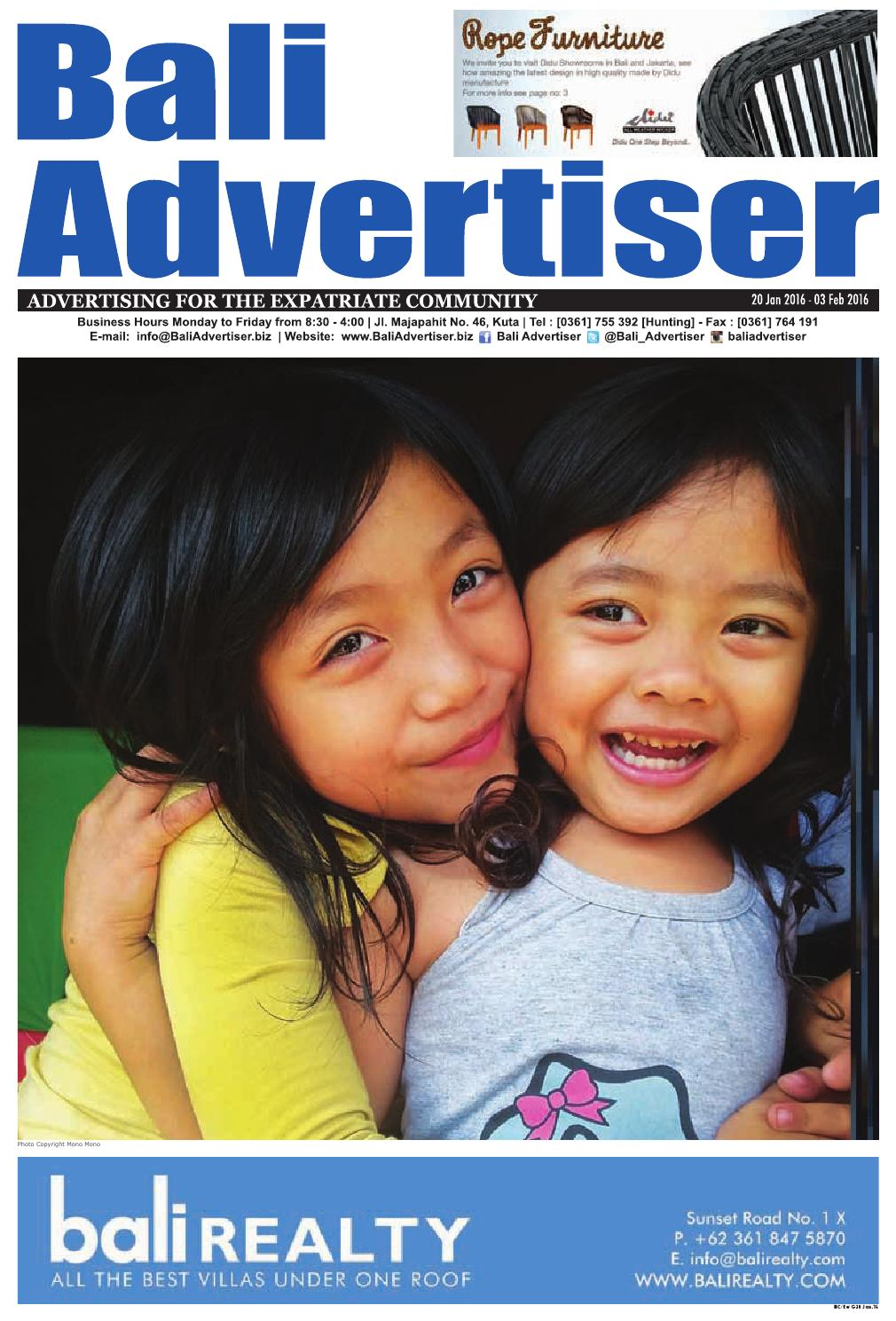 Ba 20 January 2016 By Bali Advertiser Issuu Katalog Water Blaster Semarang Sd Des 18