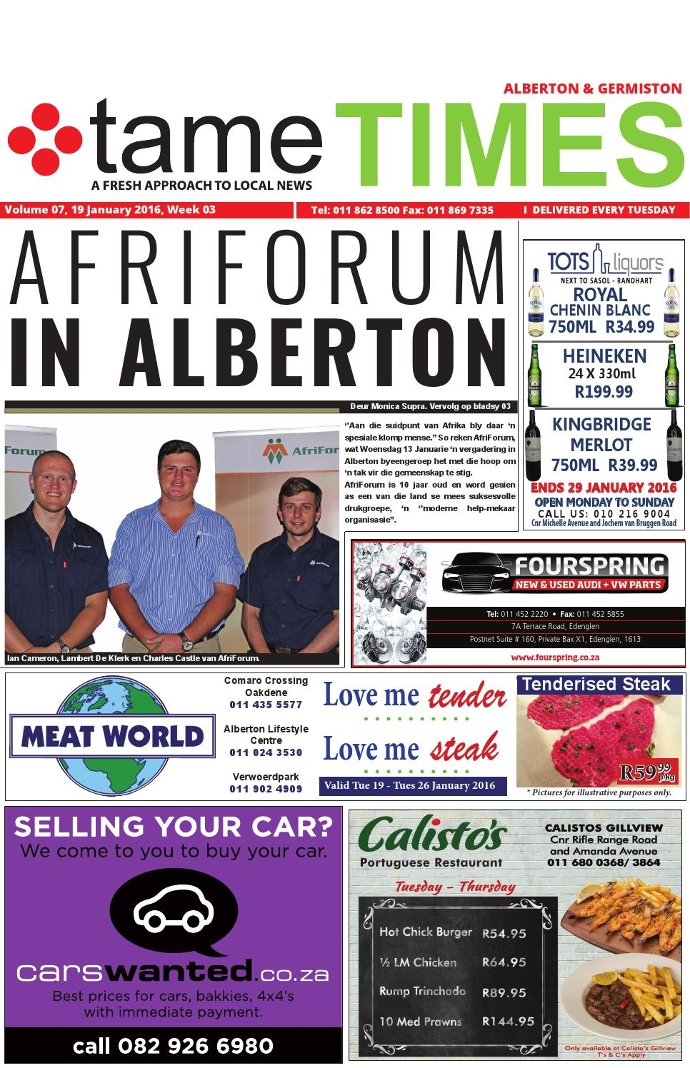 tame TIMES Alberton 19 January 2016 by tameTIMES - issuu