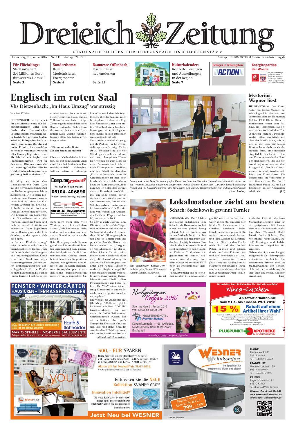 Dz online 003 16 d by Dreieich-Zeitung/Offenbach-Journal - issuu