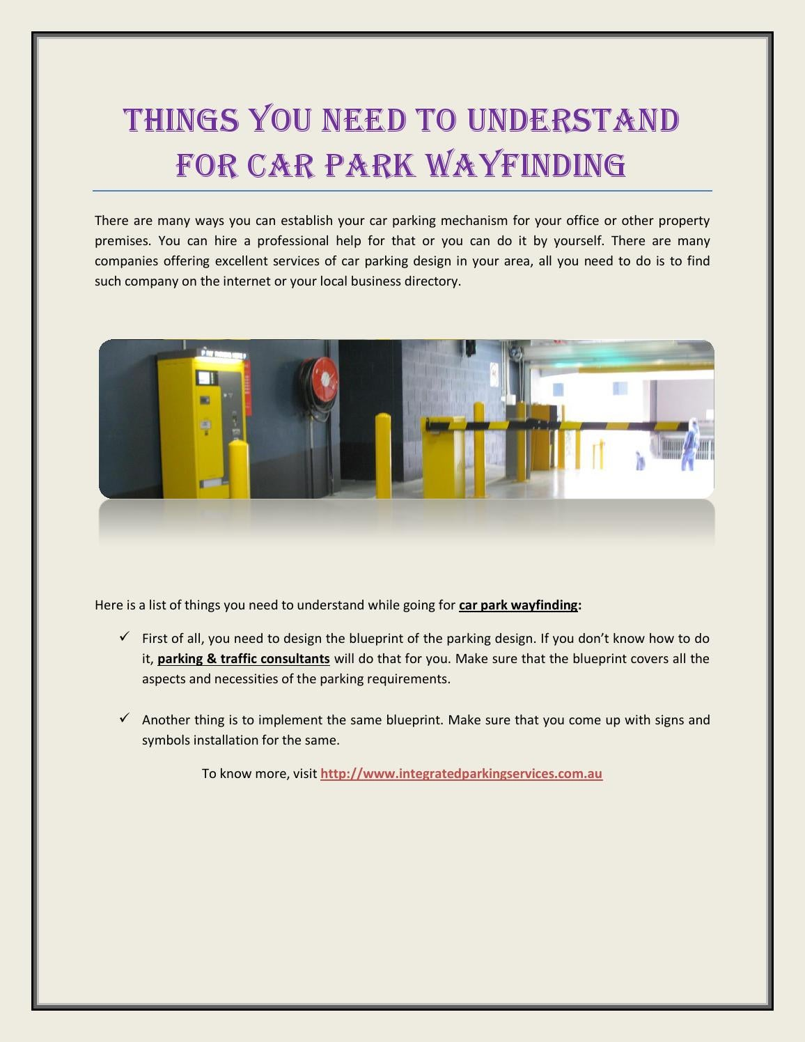 Things you need to understand for car park wayfinding by things you need to understand for car park wayfinding by parkingservices issuu malvernweather Image collections