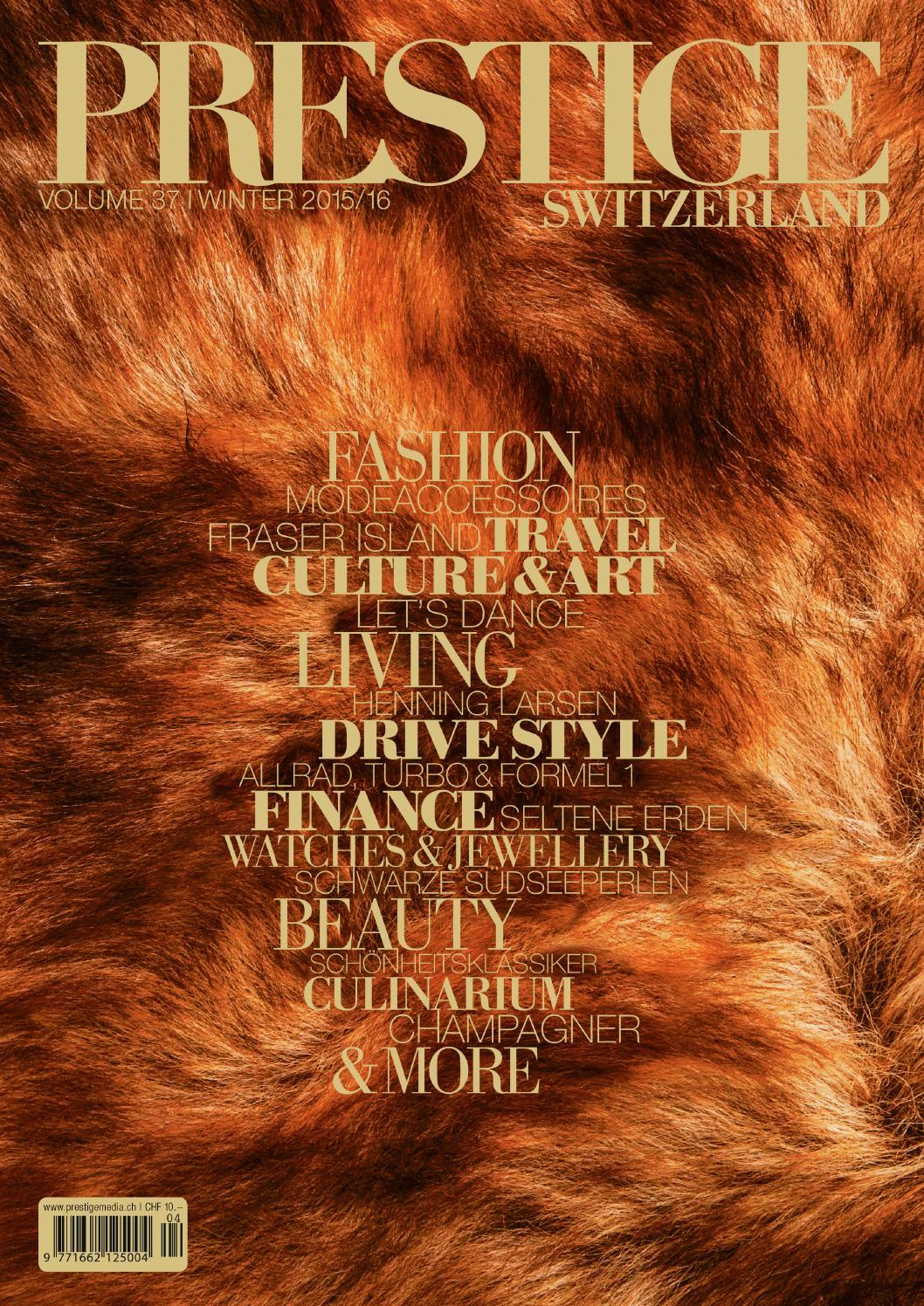 PRESTIGE Switzerland Volume 37 by rundschauMEDIEN AG - issuu