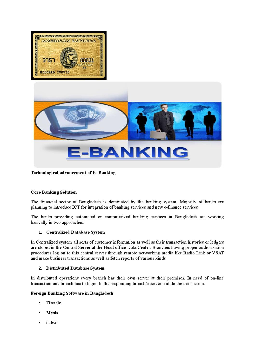 Technological advancement of e banking by Md Papon - issuu