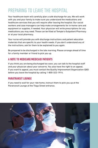 Temple University Hospital Patient Visitor Guide By Temple