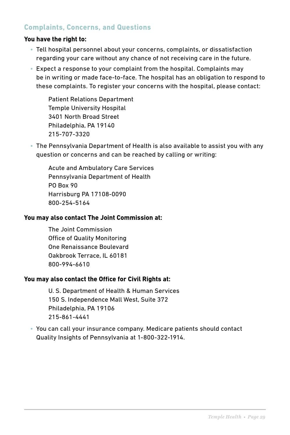 Temple University Hospital - Patient & Visitor Guide by Temple