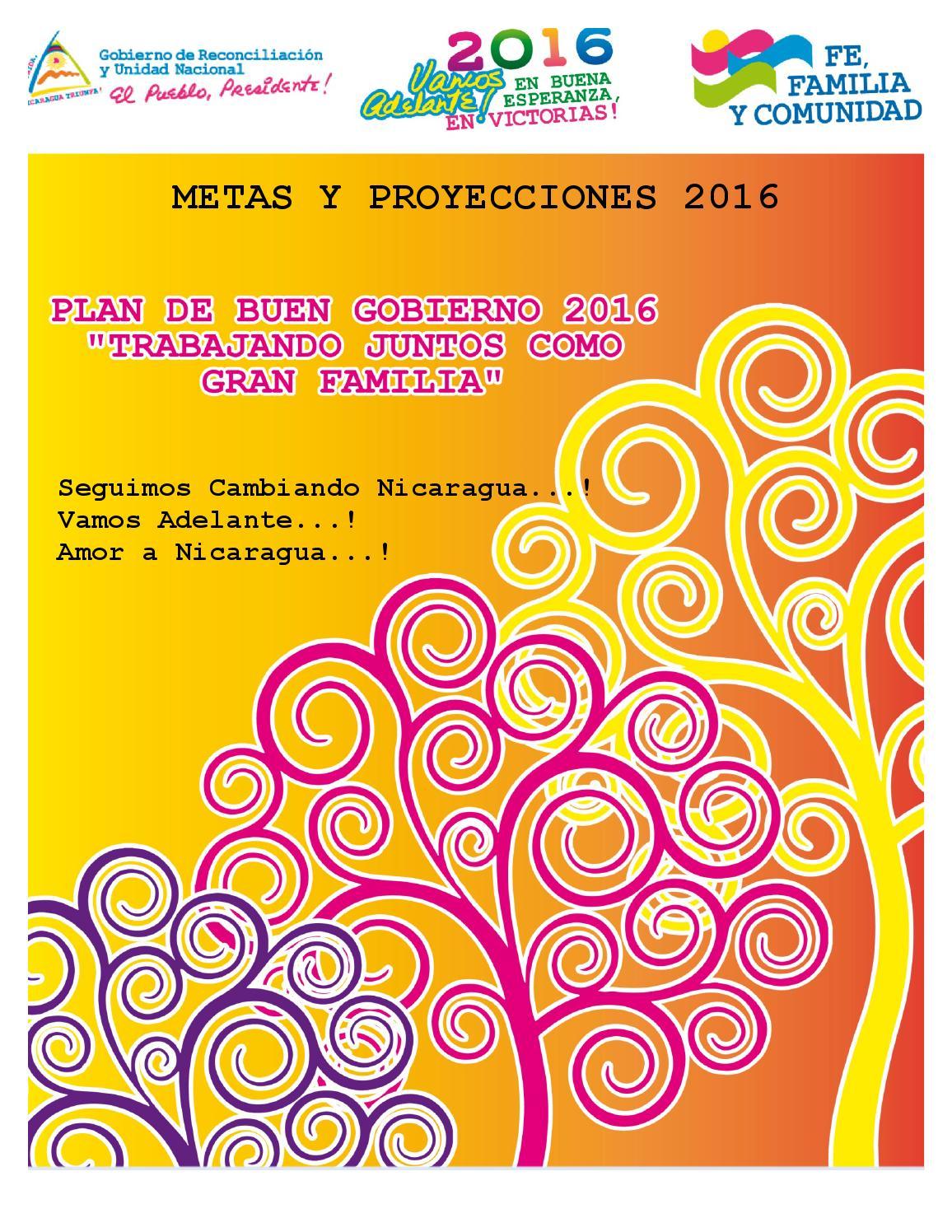 plan de buen gobierno 2016 02 by costa caribe nicaragua