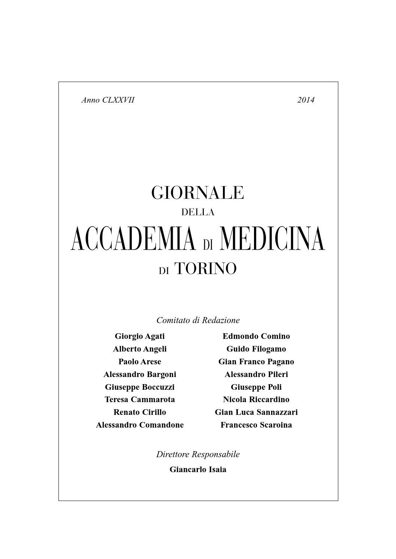 Adm Giornale 2014 By Accademia Di Medicina Torino Issuu