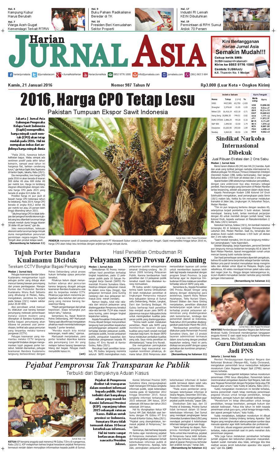Harian Jurnal Asia Edisi Kamis 21 Januari 2016 By Herbal Khalifah Specialis Lovbird Berlemak Atau Gajeh Medan Issuu