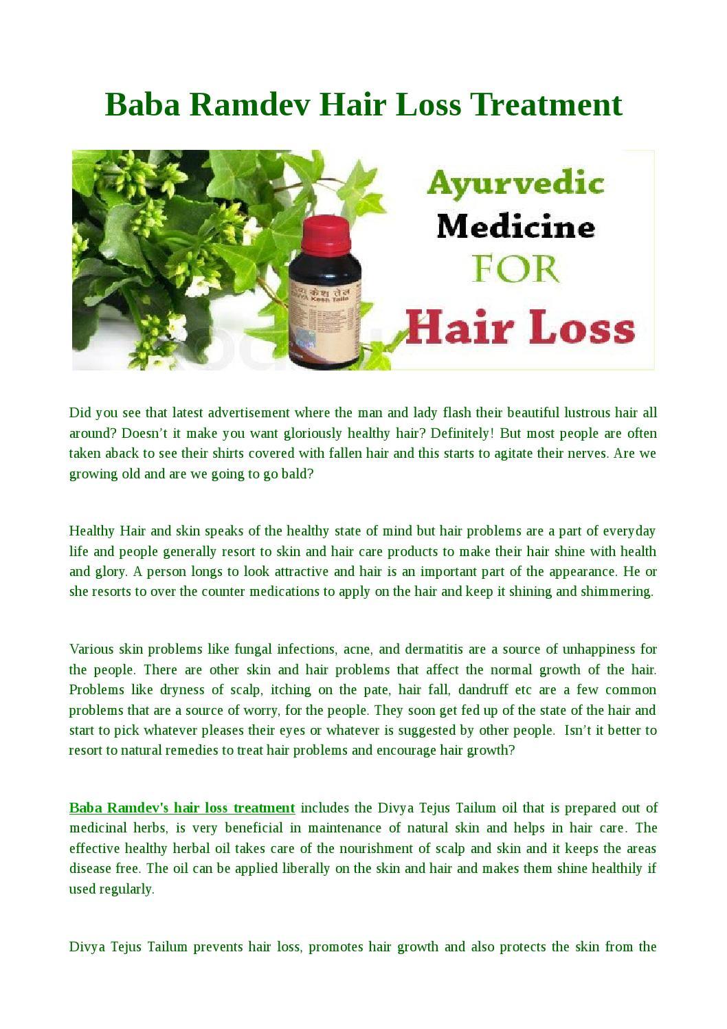 Baba Ramdev Hair Loss Treatment by Pamela Mickman - issuu