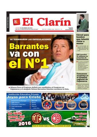 f708b5ee8363 Edición del 21 de Enero del 2016 by El Clarín Cajamarca - issuu