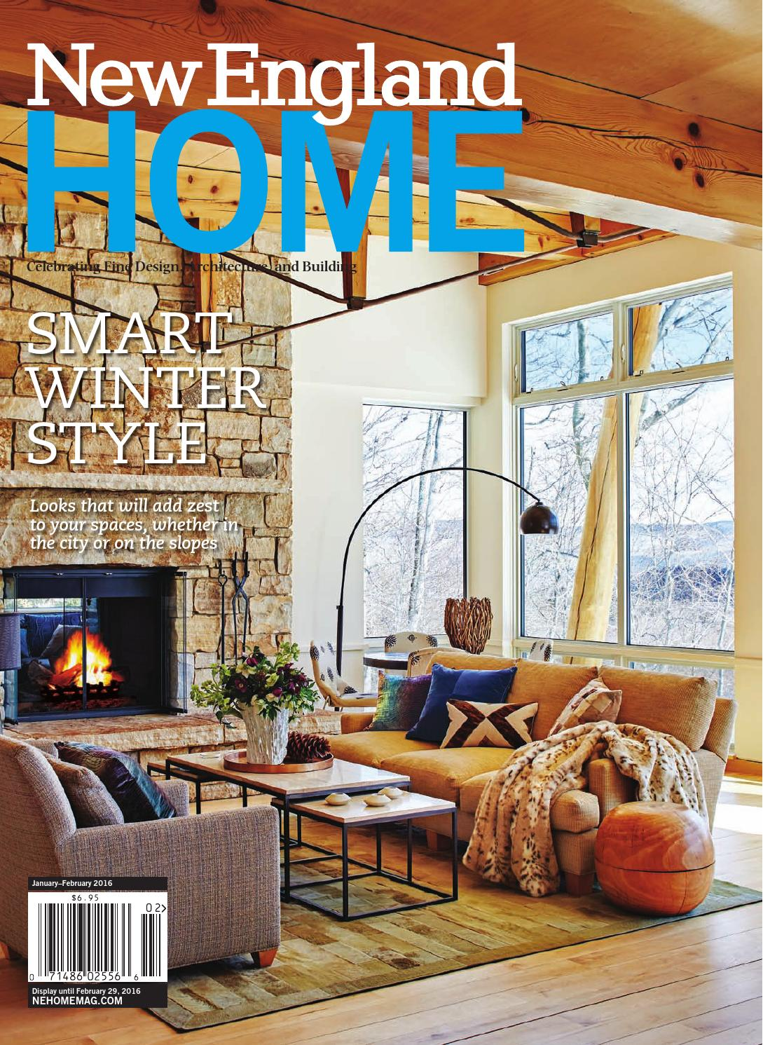 new england home janfeb 2016 - Revistas De Decoracion