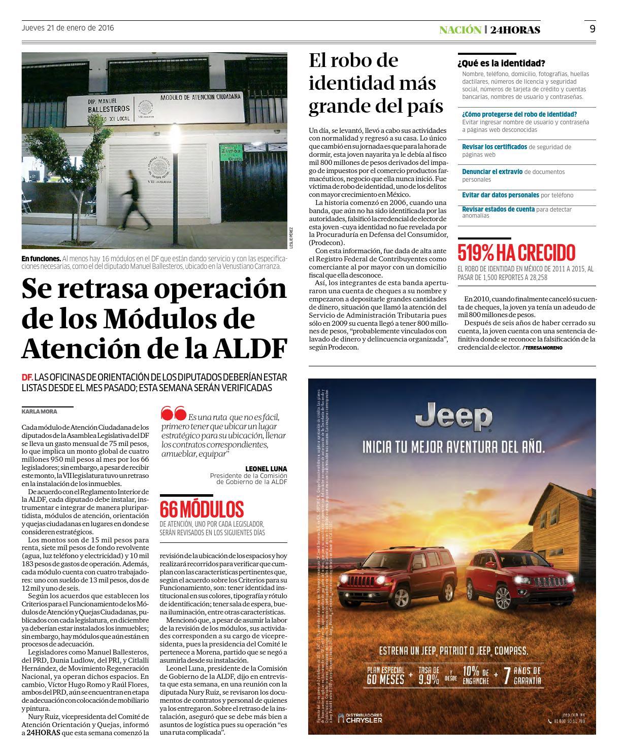 Enero 21 2016 By Información Integral 24 7 Sapi De C V