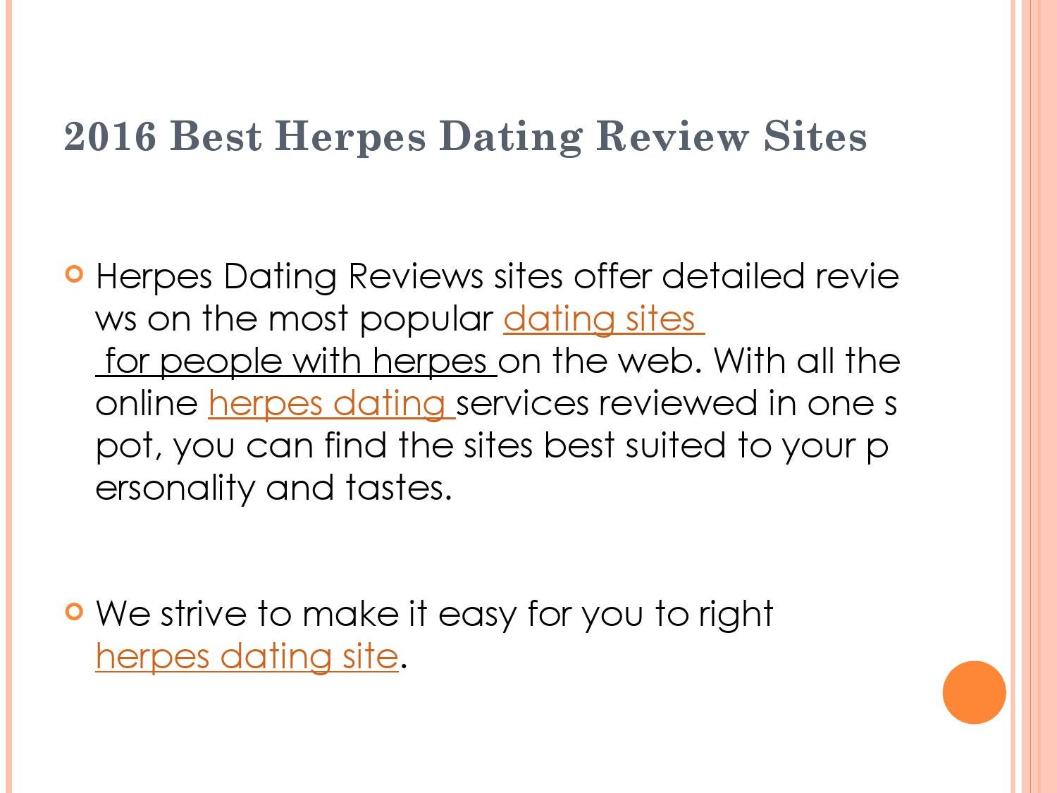 Herpes Dating Site Advice