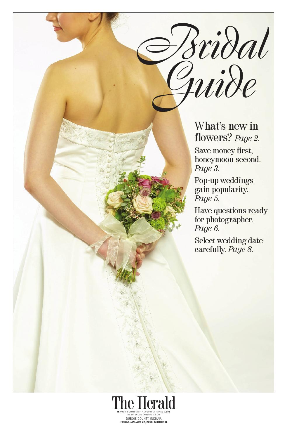 4957cd32bc02 Bridal guide 2016 by The Herald - issuu