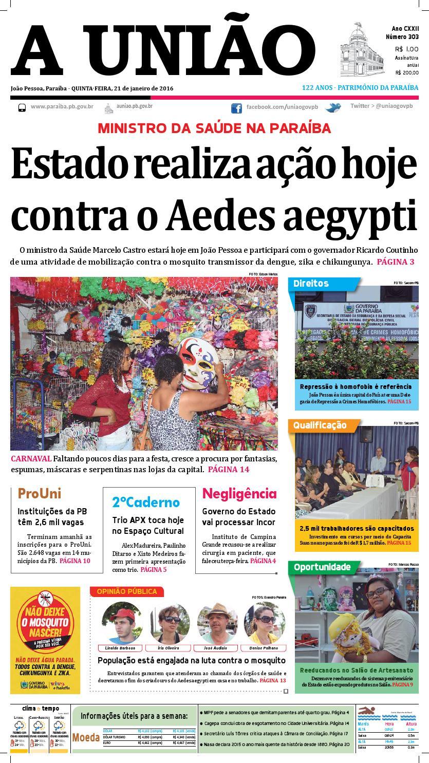 7b916ec8c6d Jornal A União 21 01 16 by Jornal A União - issuu