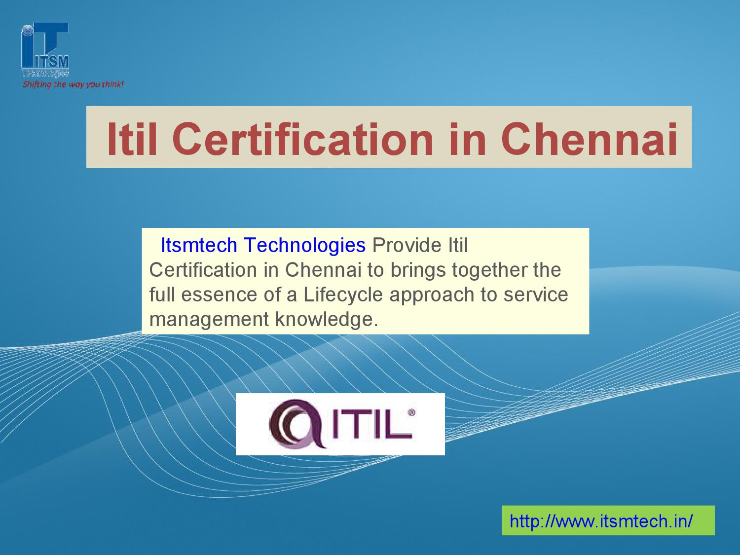 Itil Certification In Chennai By Itsmtech Issuu