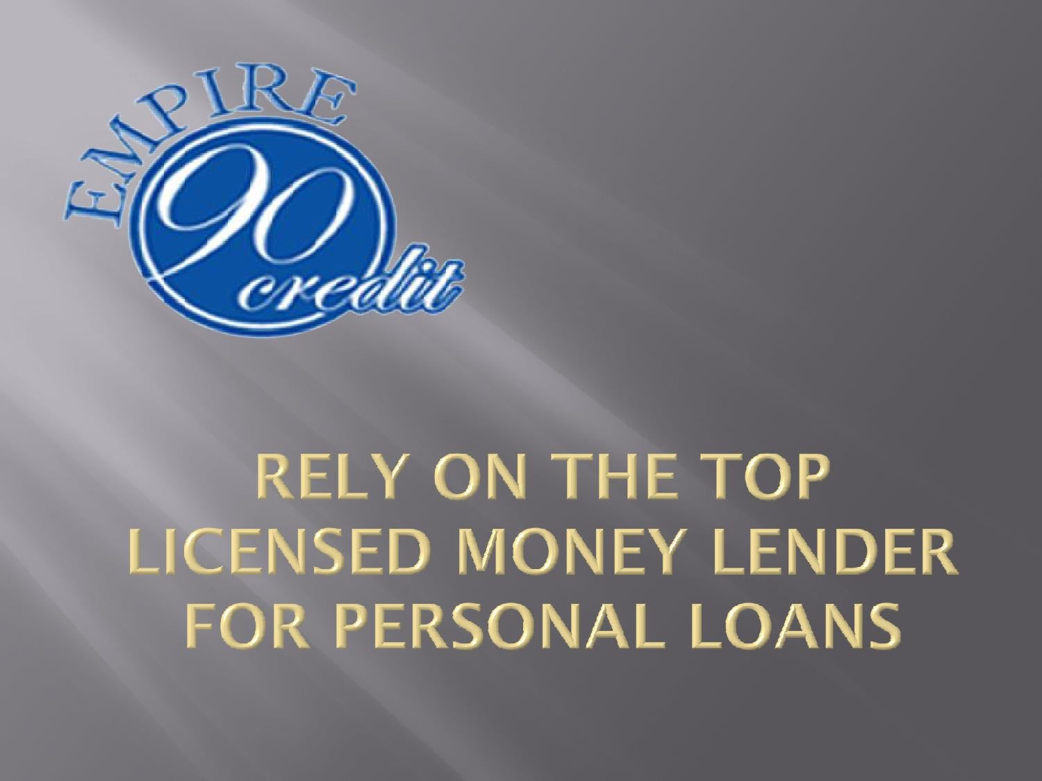 Money Personal Loans : Rely on the top licensed money lender for personal loans