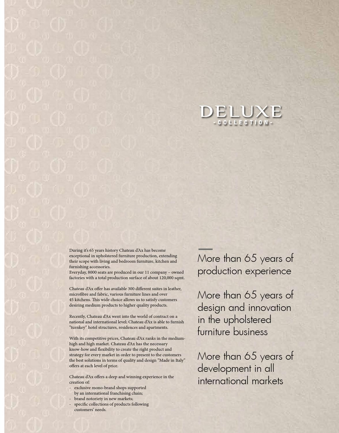 Divani Relax Chateau D Ax.Chateau D Ax Catalogo Deluxe Sofas 2014 By Decointeriors Issuu