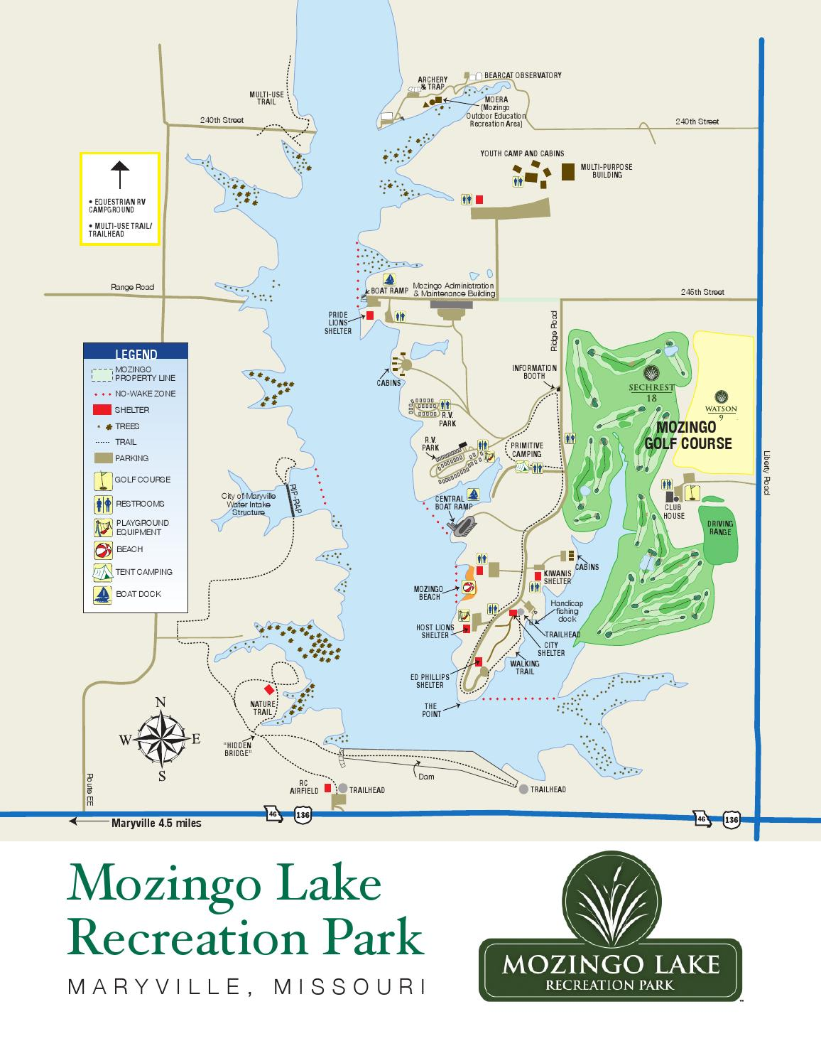 Mozingo Lake Recreation Park Map by Greater Maryville Chamber of