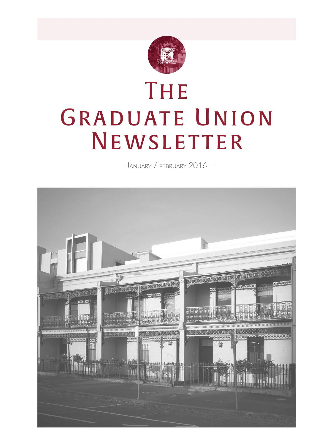 the graduate union january/february newsletter by graduate house