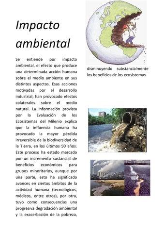 Impacto Ambiental 1 By Impacto De Las Actividades Humanas Sobre El Medio Ambiente Issuu