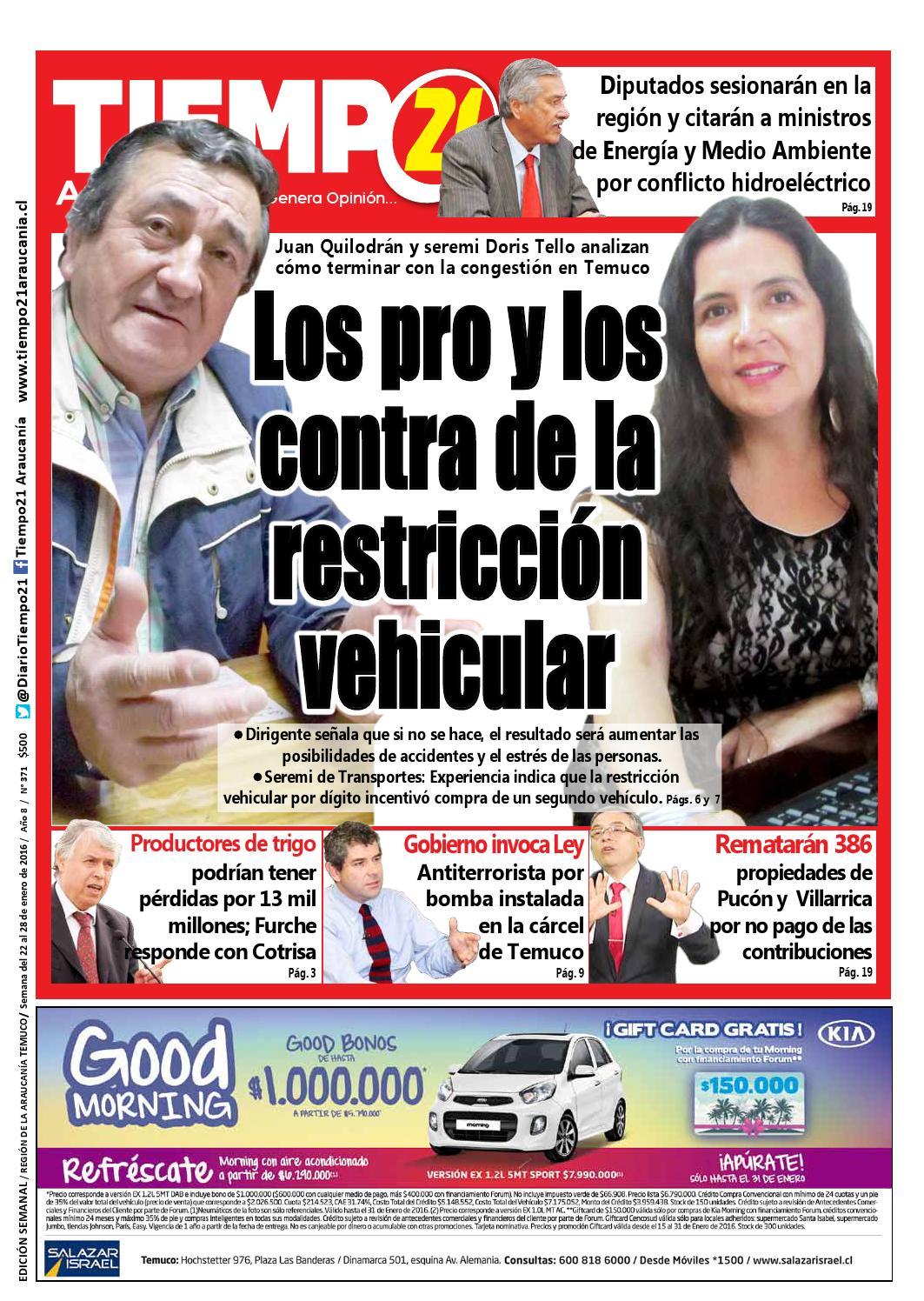 Edici N 371 Congesti N En Temuco Los Pro Y Los Contra De La  # Muebles Jouannet Temuco