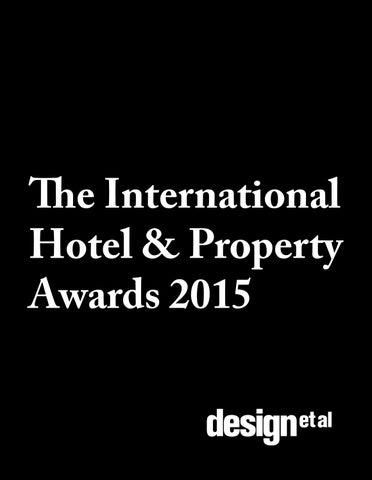 page 1 the international hotel property awards 2015