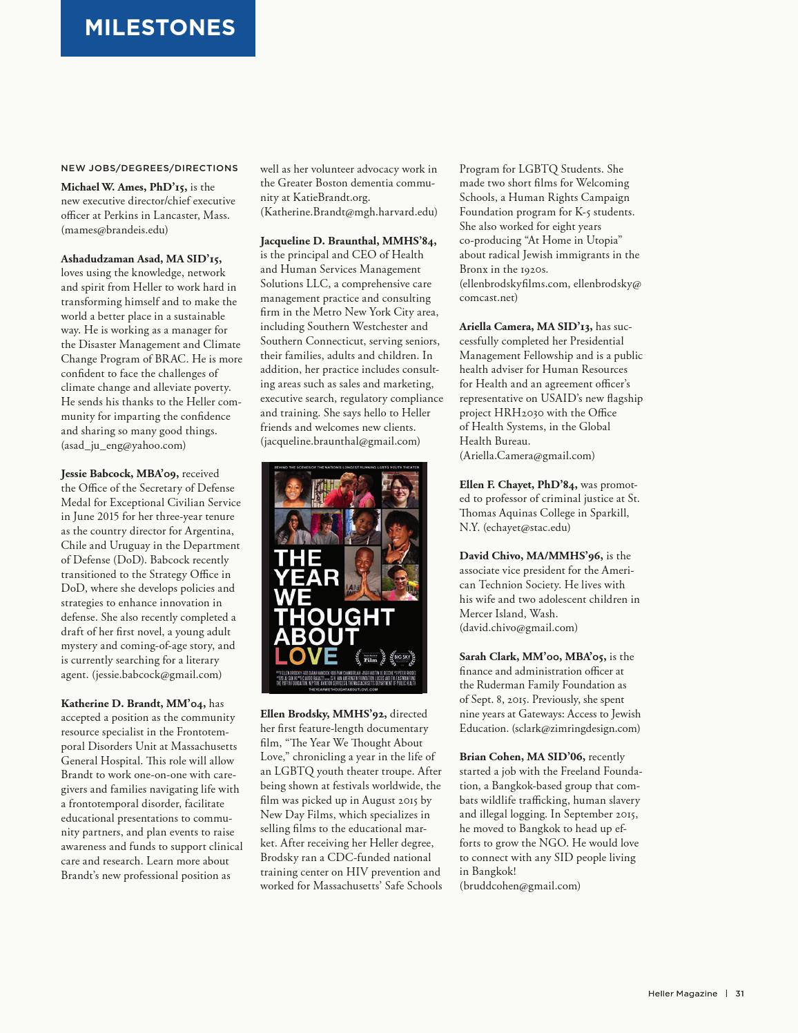 Heller Magazine, Winter 2016 by Brandeis University - issuu