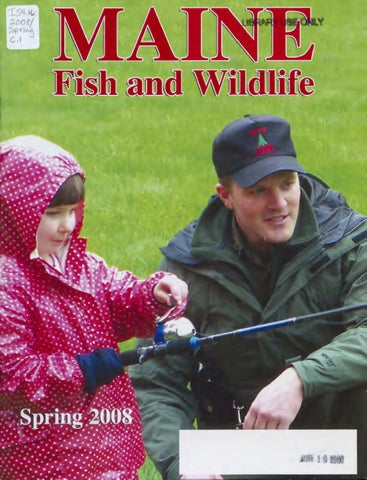 Maine fish and game magazine 2008 by maine state library for Maine fishing license