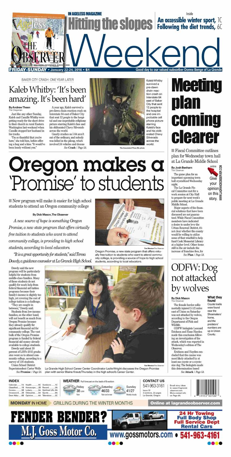 The Observer paper 01-22-16 by NorthEast Oregon News - issuu