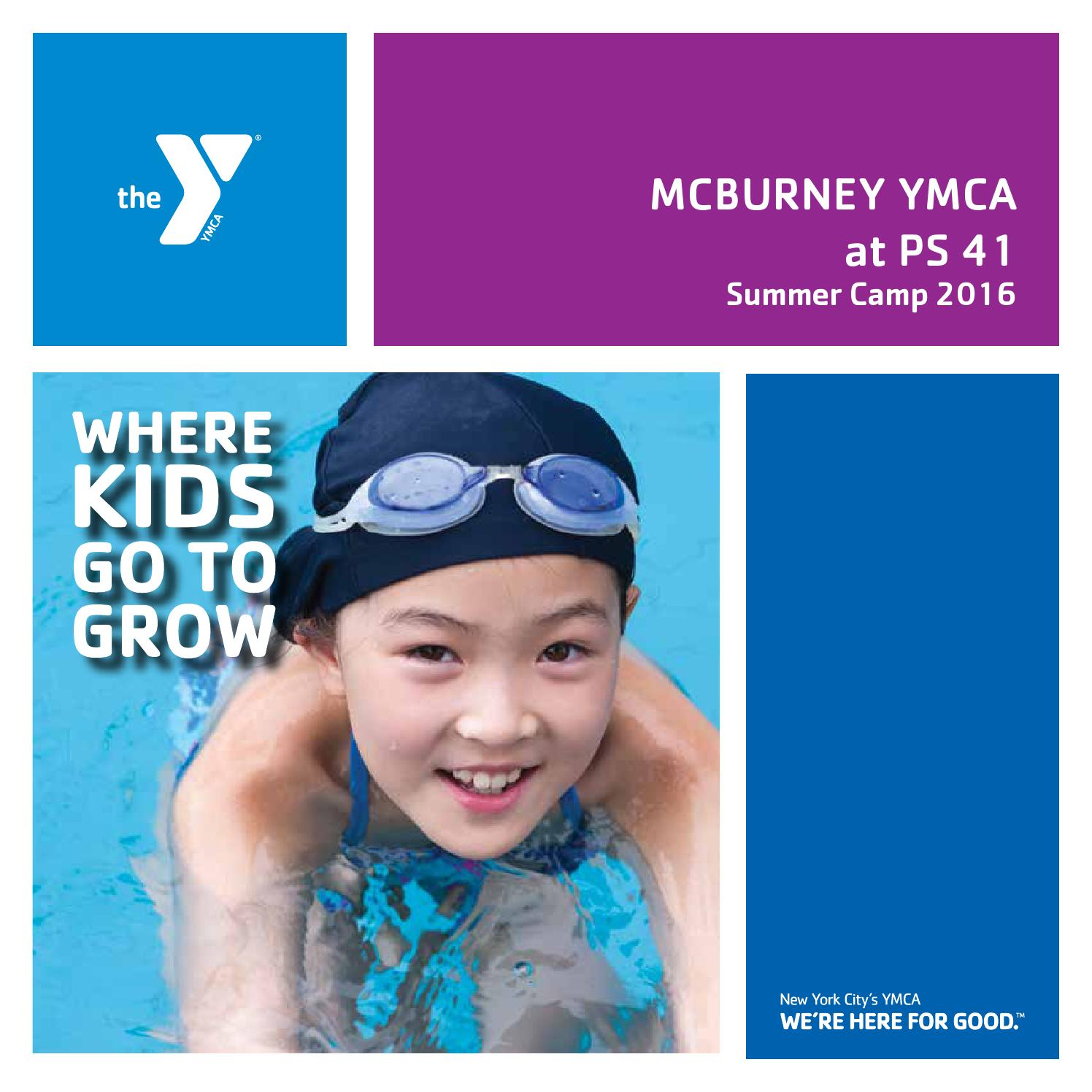Ymca Youth Camps: McBurney YMCA Summer Camp Brochure 2016 By New York City's