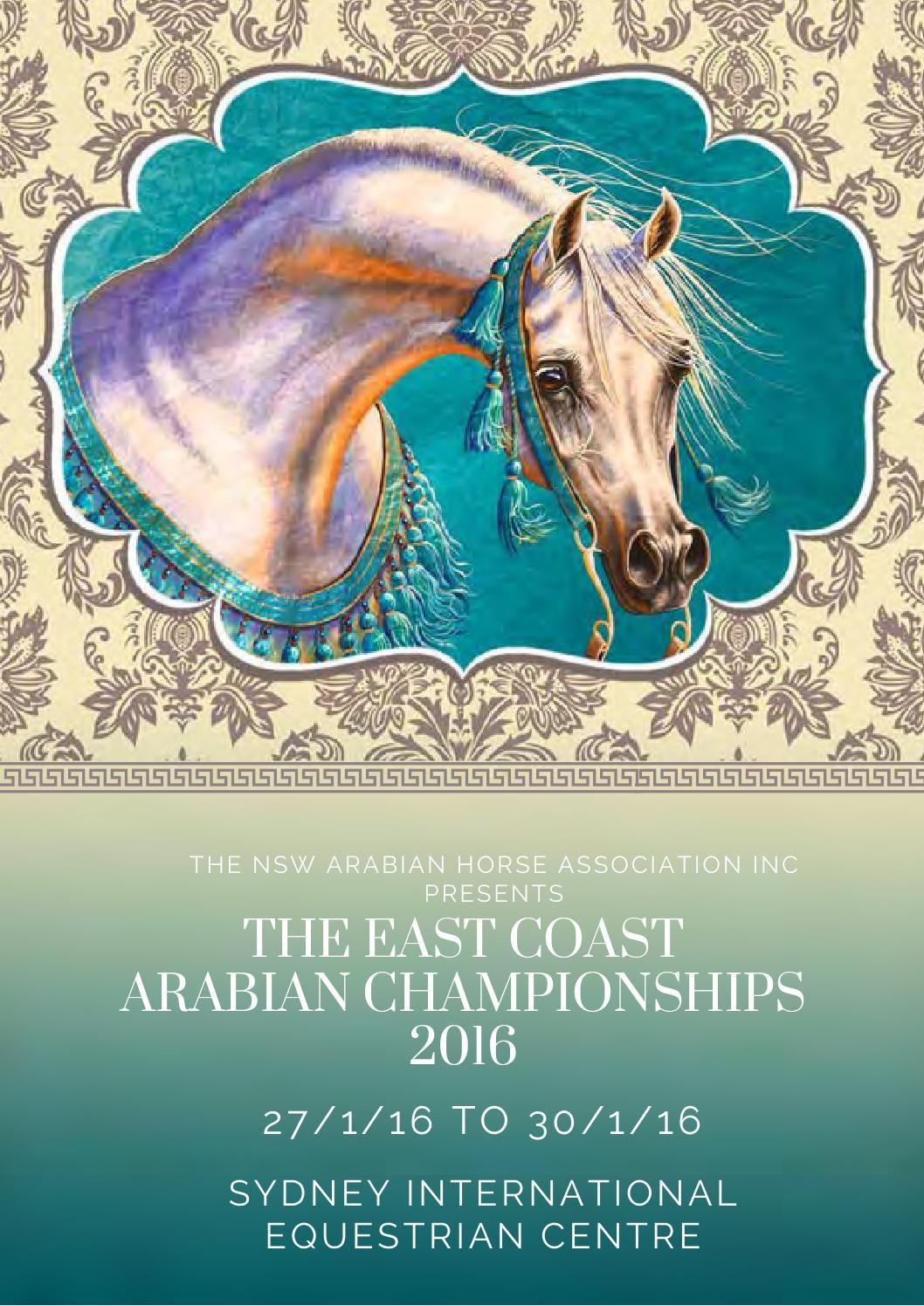 Jessica Naomee east coast arabian championships basic catalogue 2016