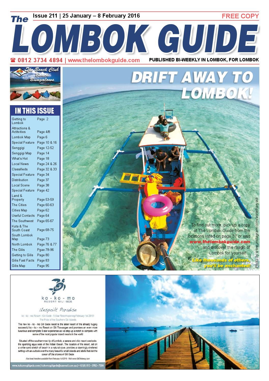 The Lombok Guide Issue 211 by The Lombok Guide - issuu