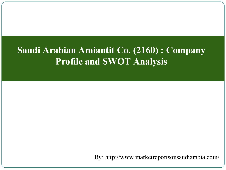 Saudi arabian amiantit co (2160) company profile and swot analysis