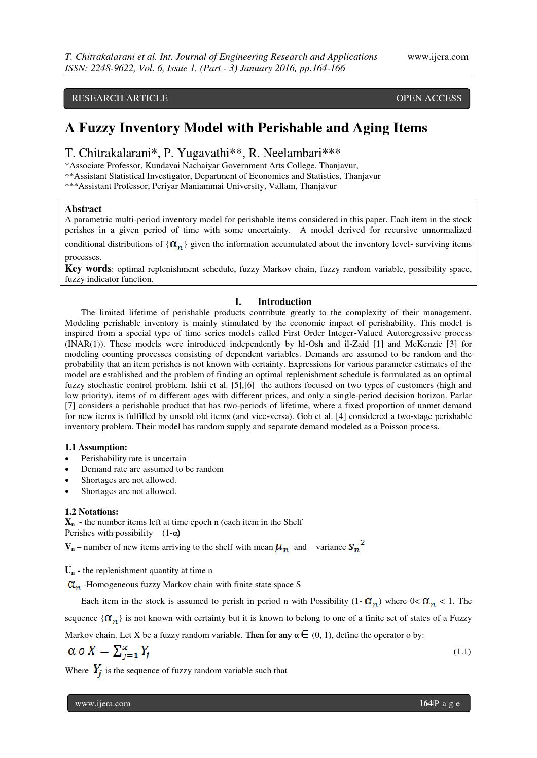 A Fuzzy Inventory Model with Perishable and Aging Items