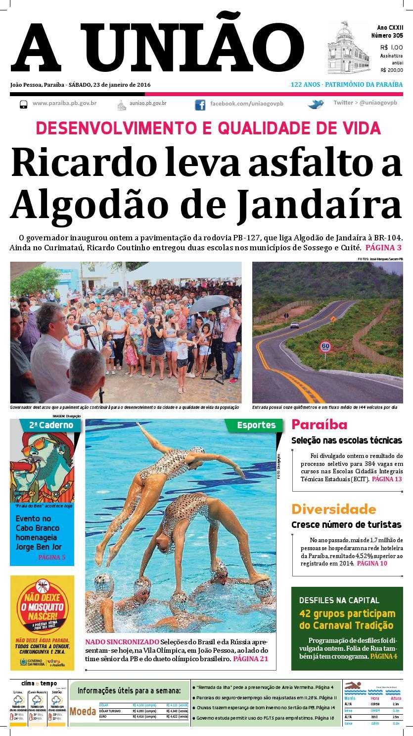 Jornal A União 23 01 16 by Jornal A União - issuu b8677c5dfa82b