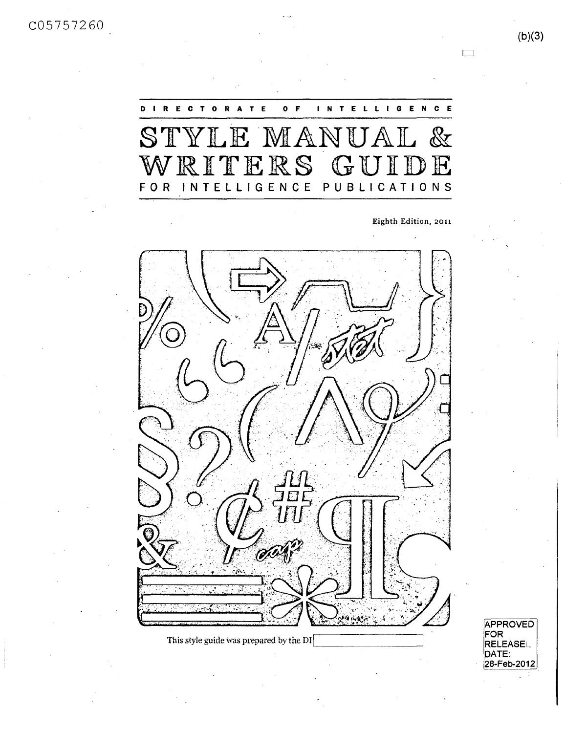 cia style guide by richard west issuu Oilfield Resume Examples