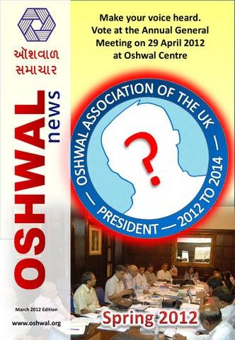 Oshwal News March 2012 by Oshwal - issuu
