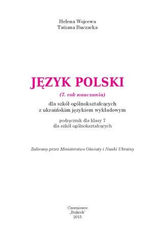 7 Clas Polska Mova Voytseva O A Buchatska T G By Rompetrom