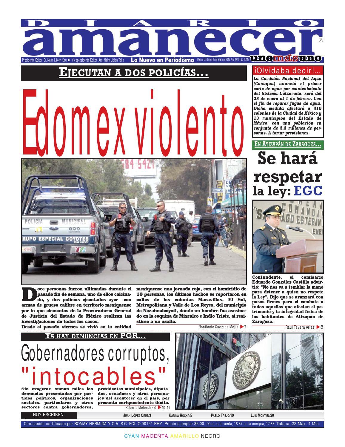Enero 25 de 2016 by Diario Amanecer - issuu