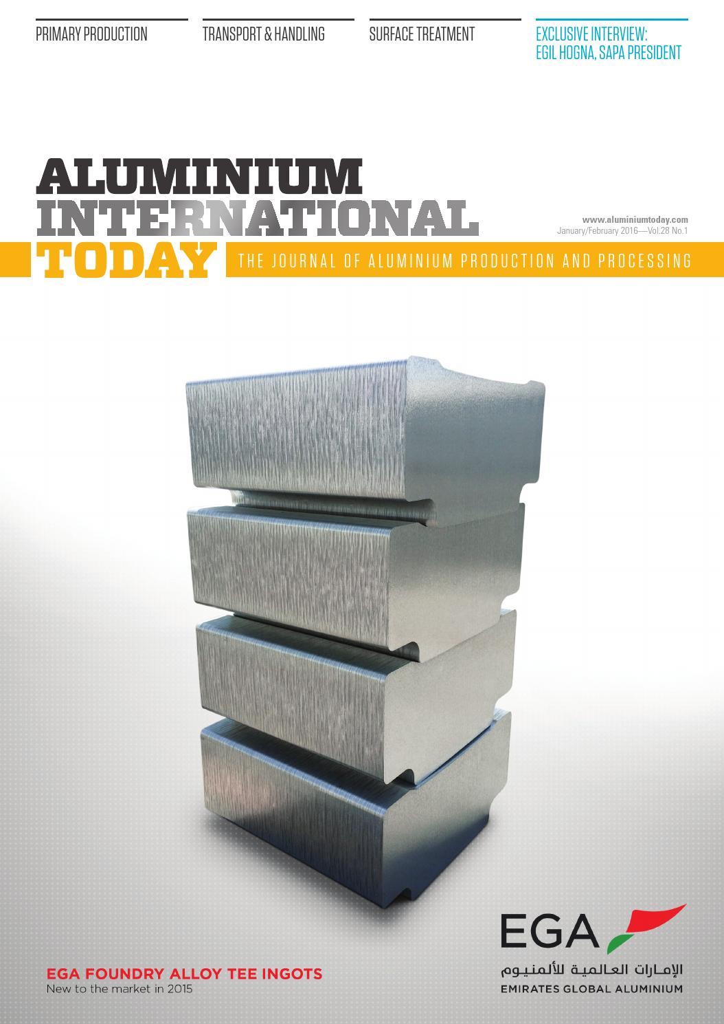 Aluminium International today Jan/Feb 2016 by Quartz - issuu